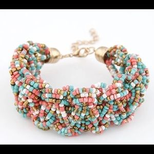 Jewelry - New adorable multicolored bearded layered bracelet